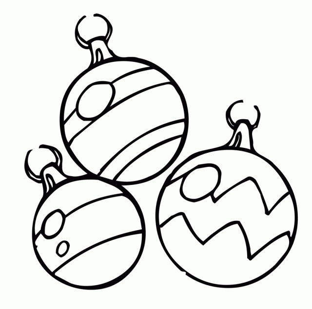 Free Christmas Ornaments Coloring Page