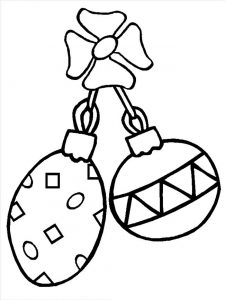 Free christmas ornaments coloring pages