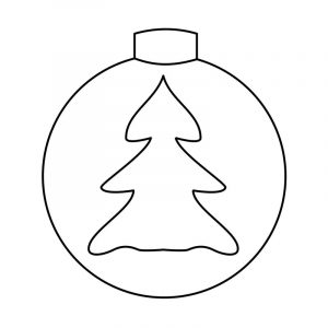 Free christmas tree ornament coloring page