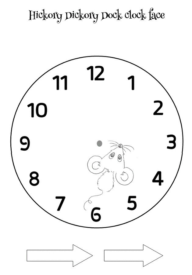 Free Clock Faces For Kids