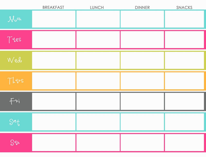 Free Colorful Planner Pages Template 001
