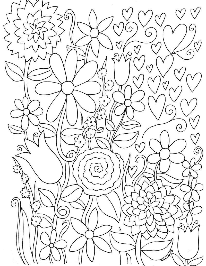 Free Coloring Flowers