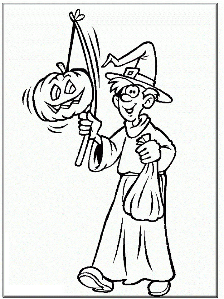 Free Coloring Halloween Pages