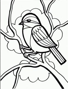 Free coloring pages for kids to print bird