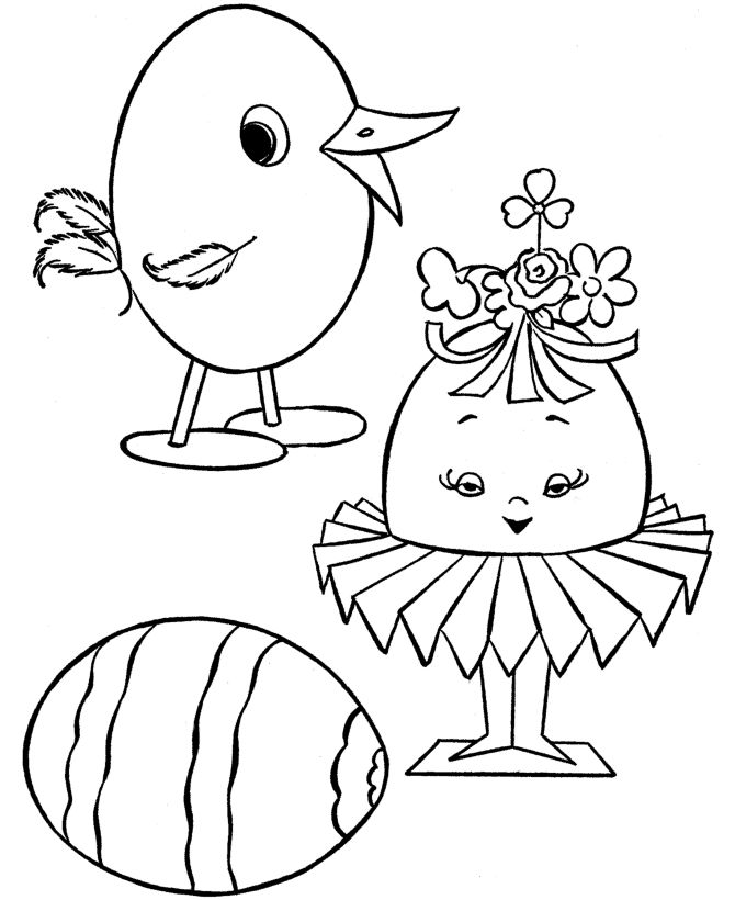 Free Coloring Pages For Preschool 1