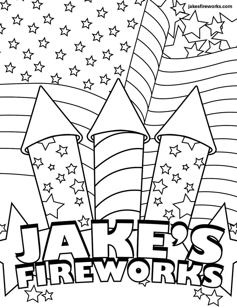 Free Coloring Pages Of Fireworks