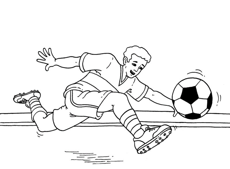 Free Coloring Sheets Football For Children 001