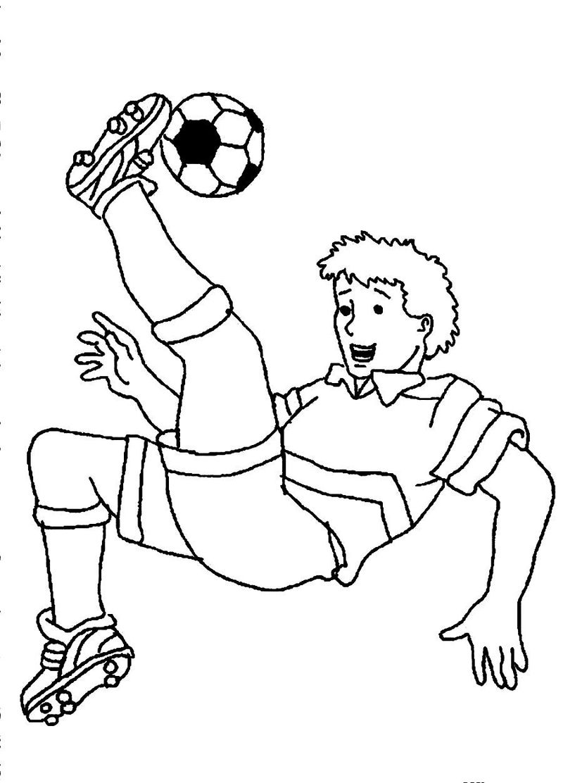 Free Coloring Sheets Football For Kids 001