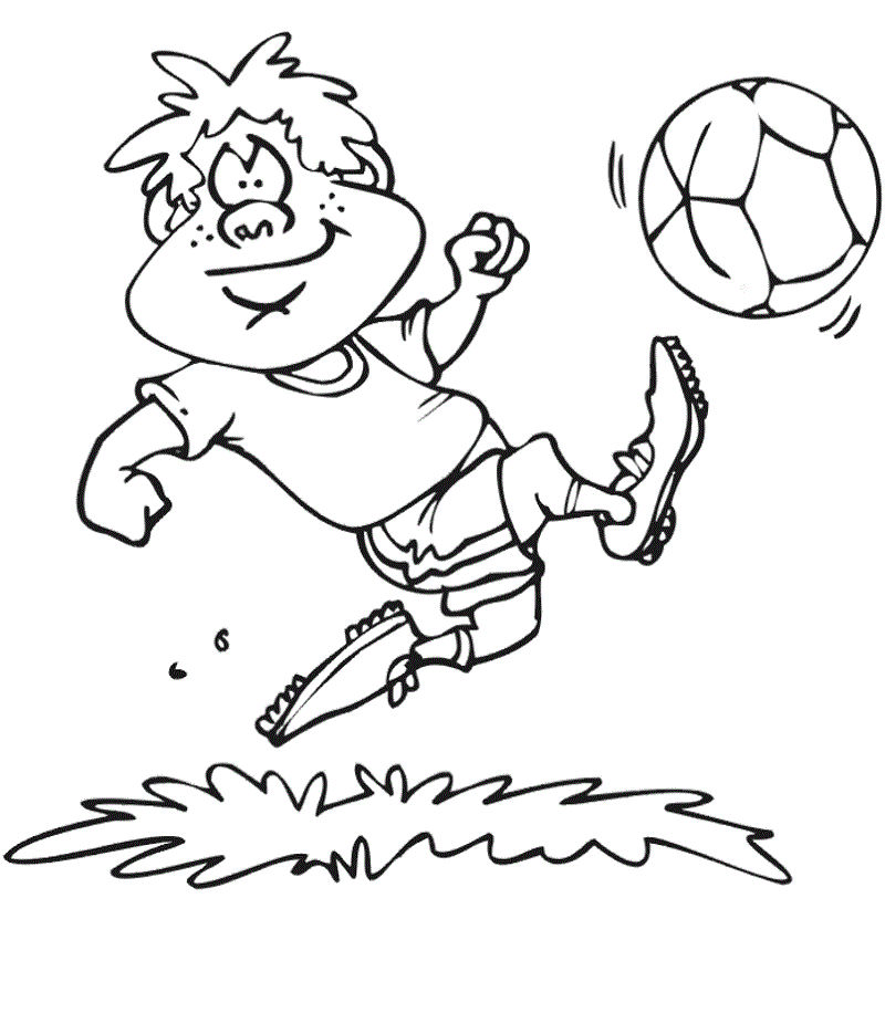 Free Coloring Sheets Football Simple 001