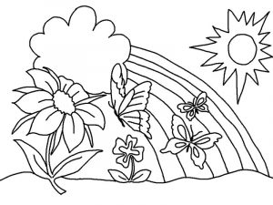 Free coloring sheets for preschoolers spring