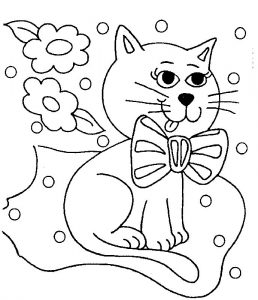 Free colouring sheets for children cat