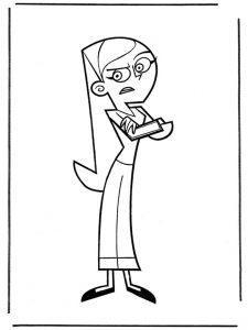 Free danny phantom coloring pages