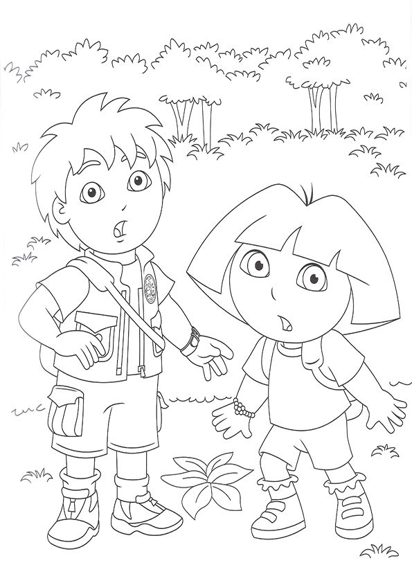 Free Diego Coloring Pages For Kids 001