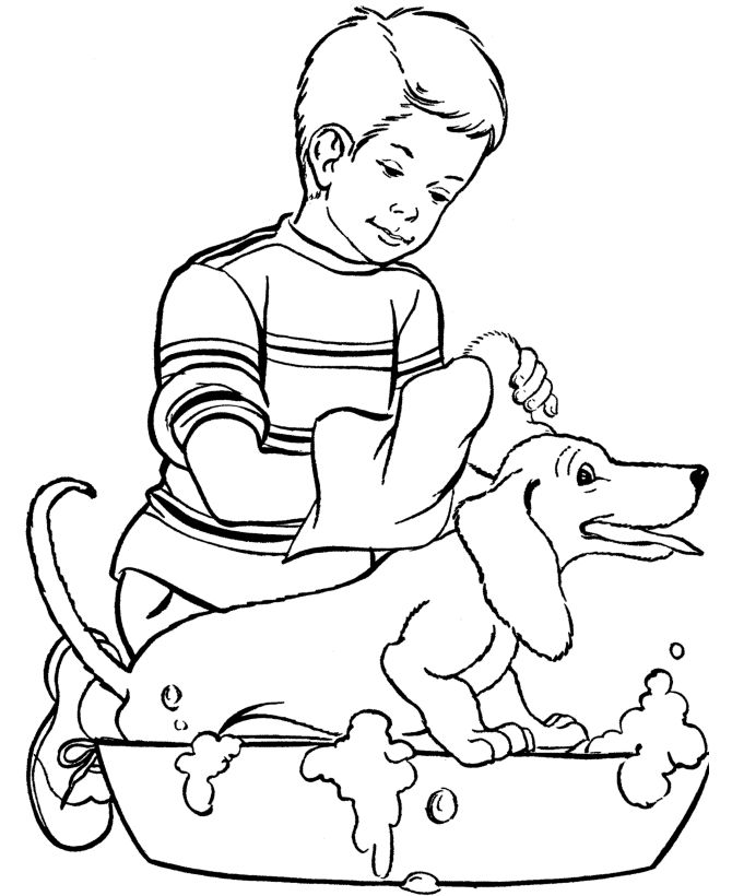 Free Dog Coloring Pages For Kids