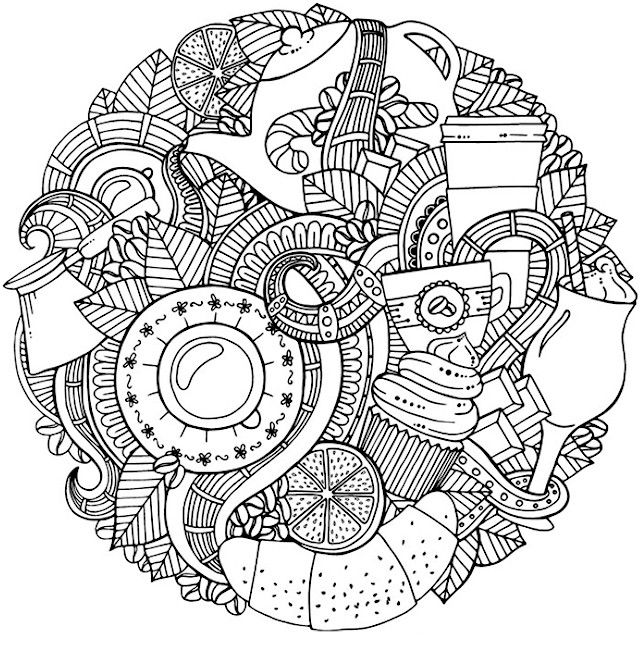 Free Doodle Coloring Page For Adults