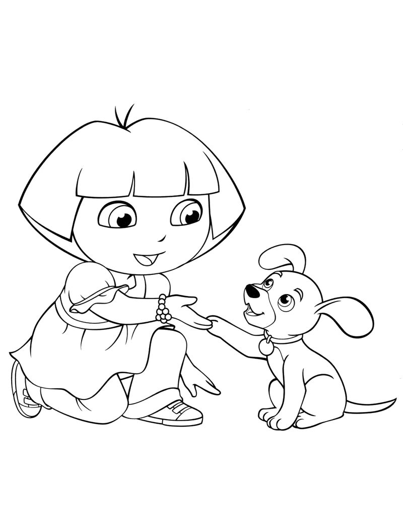 Free Dora Dog Coloring Pages
