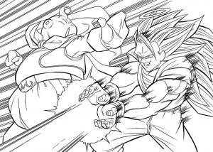 Free dragonball z coloring pages 001