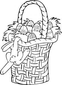 Free easter basket coloring pages printables