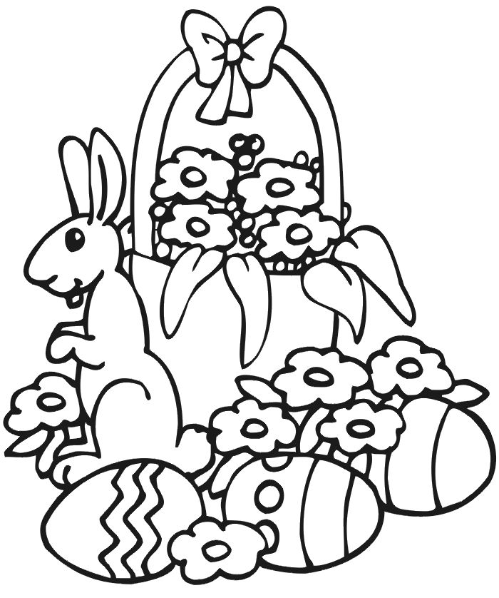 Free Easter Basket Coloring Pages