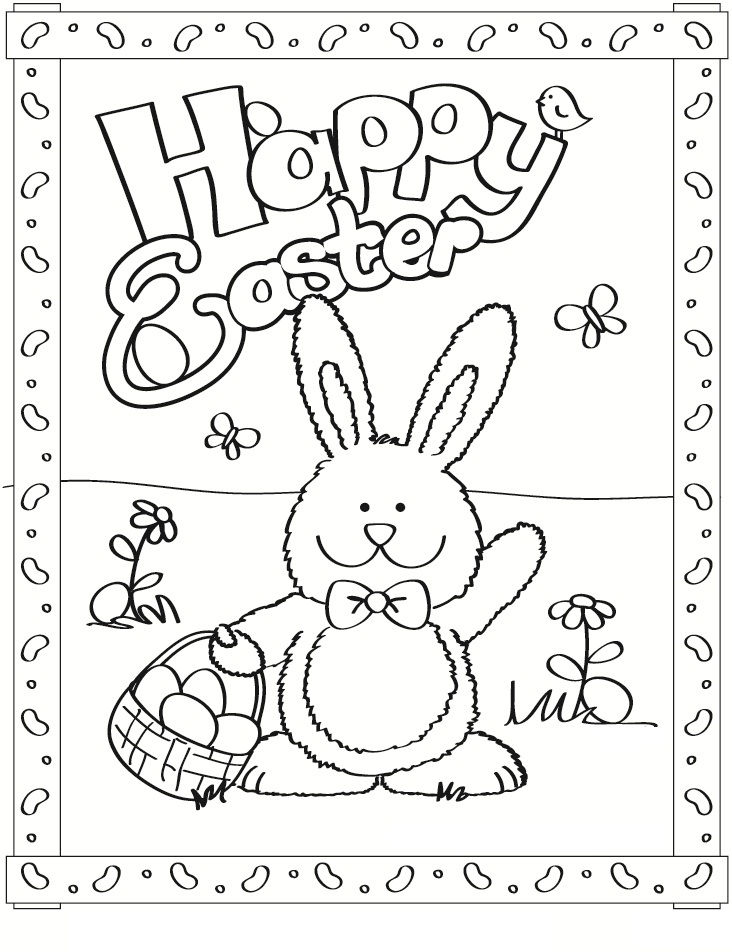 Free Easter Bunny Coloring Pages