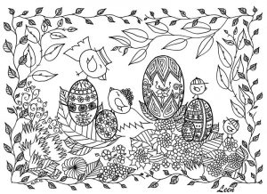 Free easter coloring pages for adults