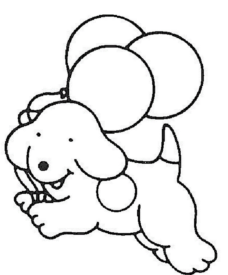 Free Easy Coloring Pages Dog