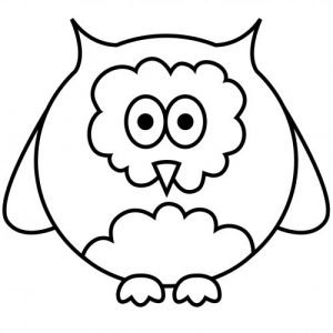 Free easy coloring pages owl 001