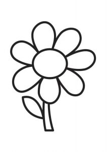 Free easy flower coloring pages