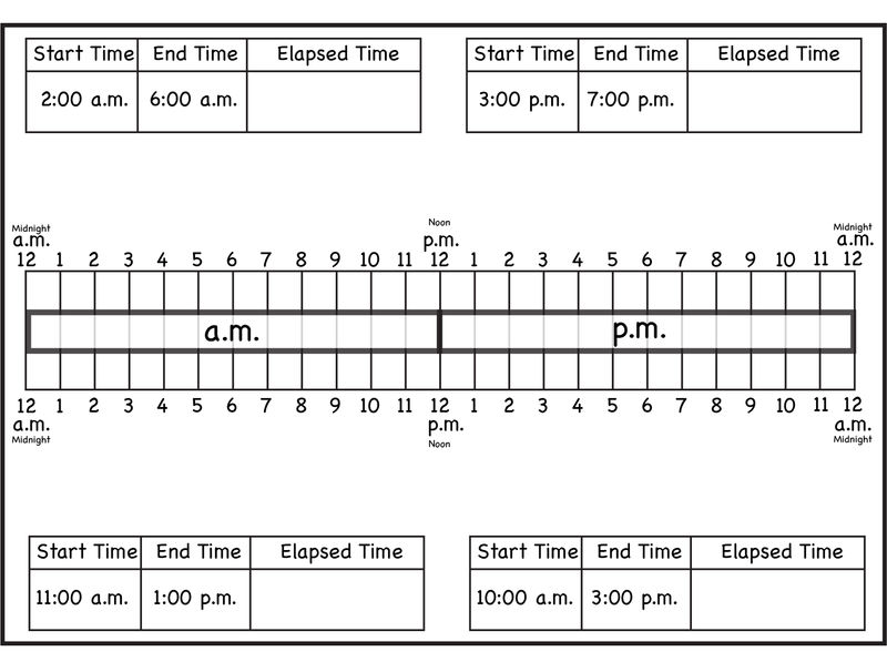Free Elapsed Time Worksheets Creative