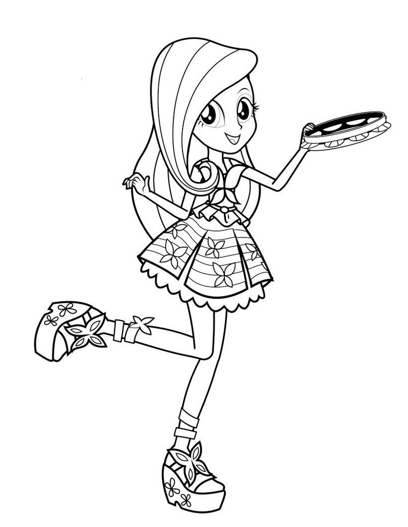 Free Equestria Girls Coloring Pages 1