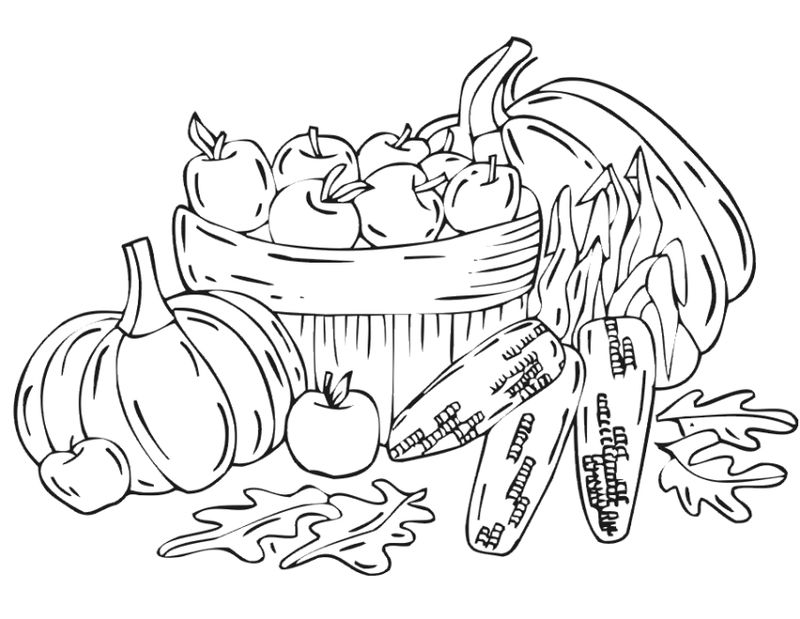 Free Fall Harvest Coloring Pages