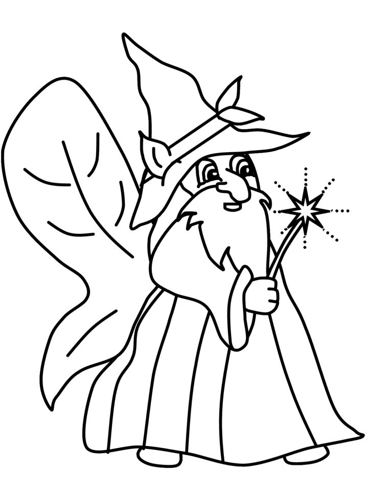 Free Fantasy Coloring Pages To Print 001