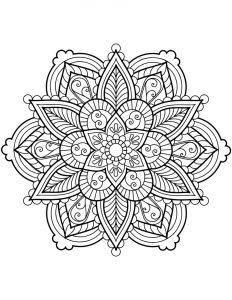 Free flower mandala coloring pages