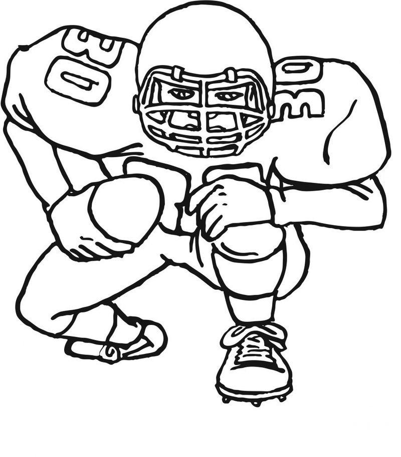 Free Football Coloring Pictures Activity