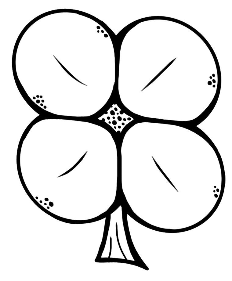 Free Four Leaf Clover Coloring Pages