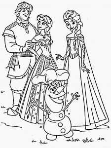Free frozen coloring pages