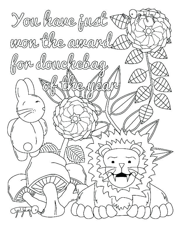 Free Funny Adult Curse Word Coloring