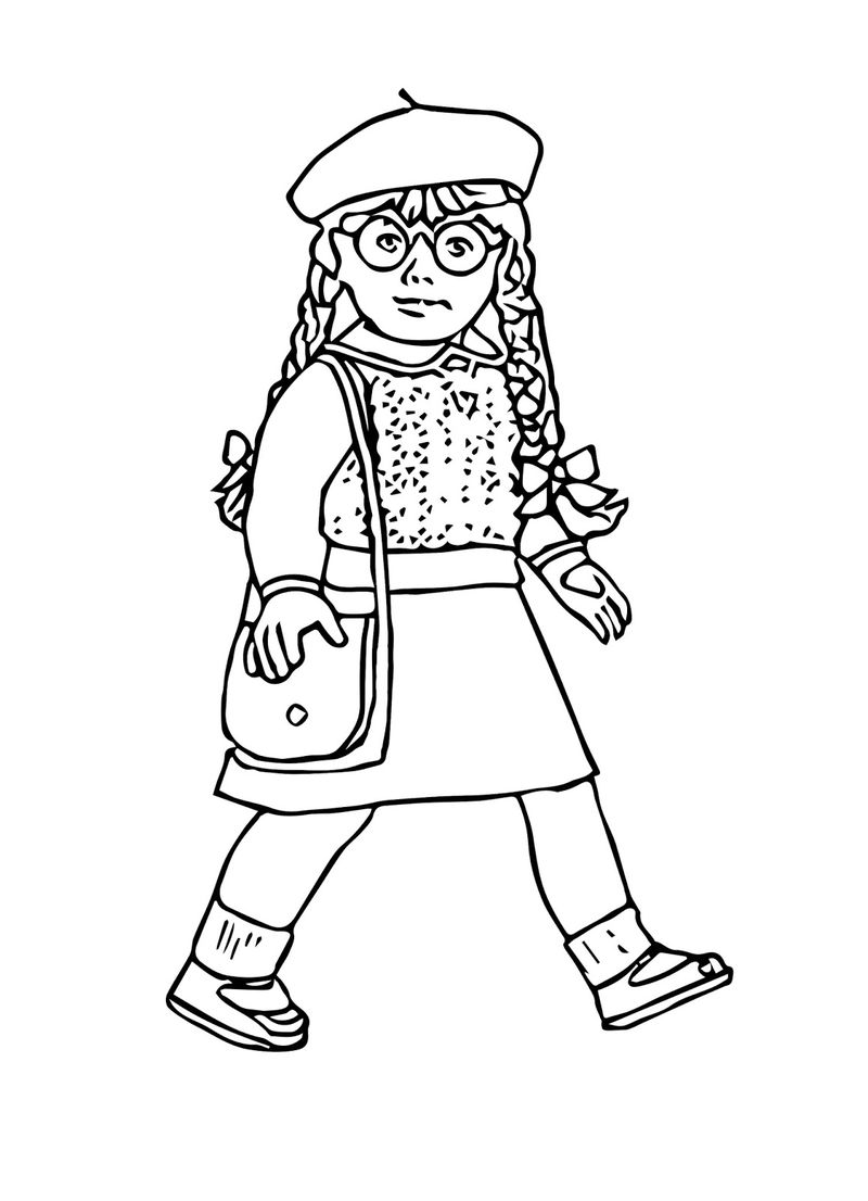Free Girl Doll Coloring Pages