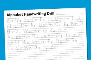 Free handwriting worksheet for kids for drilling