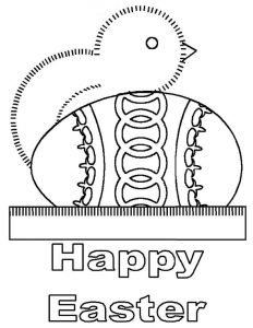 Free happy easter coloring pages 001