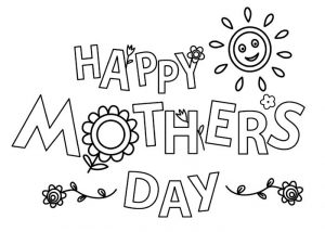 Free happy mothers day coloring page flowers