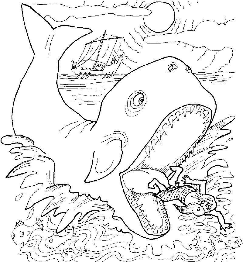 Free Jonah And The Whale Coloring Pages