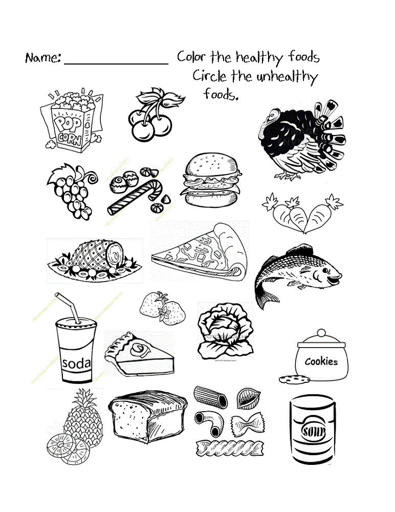 Free Kids Activity Sheets Healthy