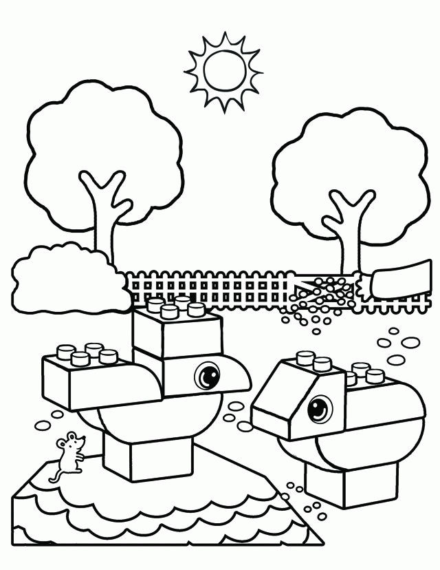 Free Lego Coloring Pages 001