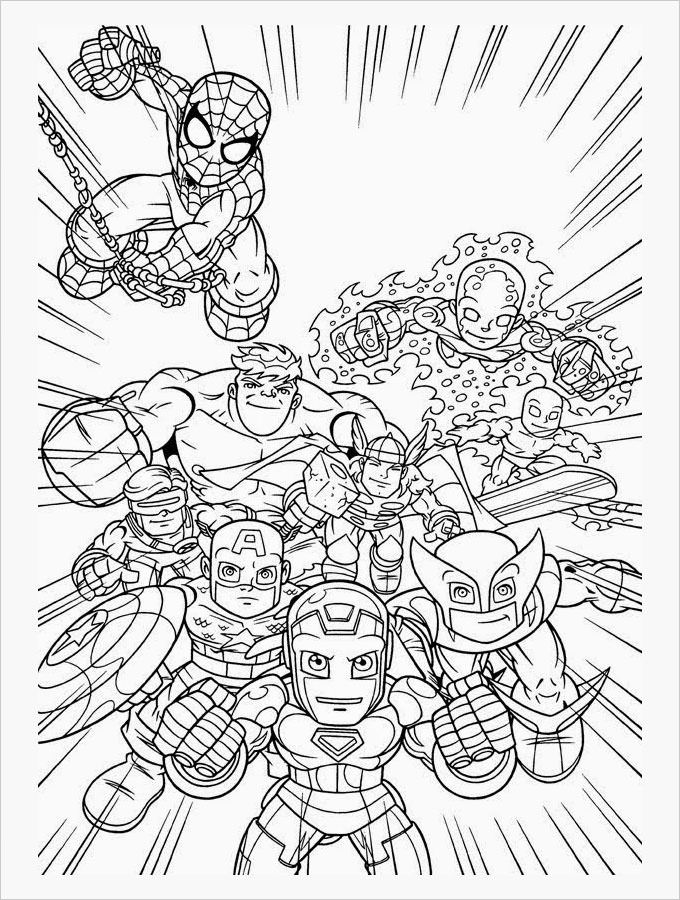 Free Marvel Coloring Pages 001