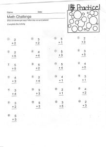 Free math practice sheets for 1st grader