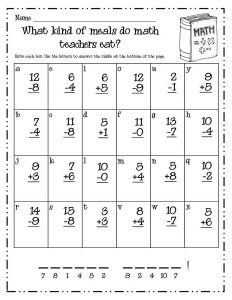 Free math worksheets for 1st grade to print