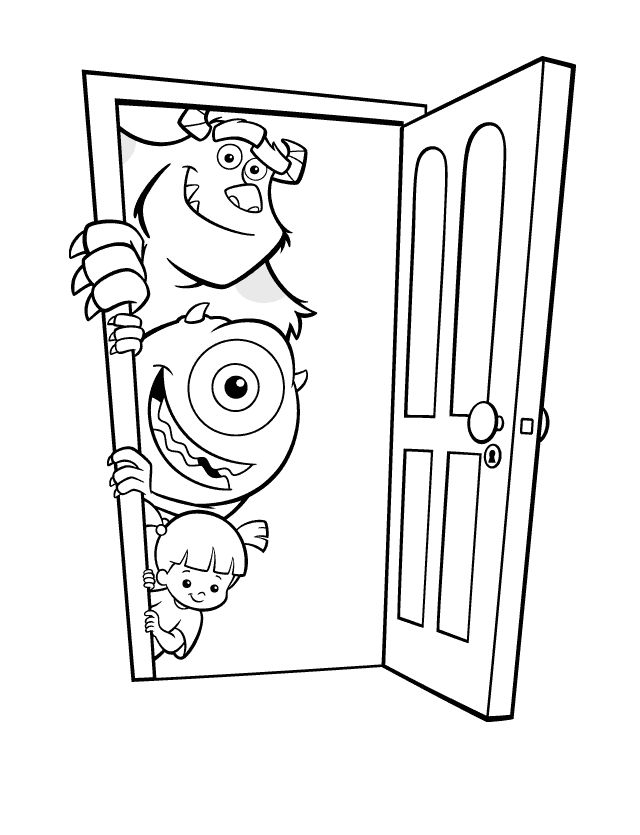 Free Monsters Inc Coloring Page
