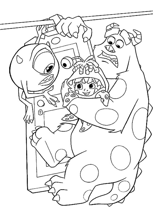 Free Monsters Inc Coloring Pages