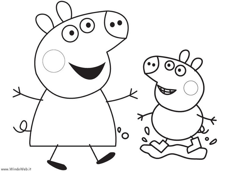 Free Muddy Peppa Pig Coloring Pages